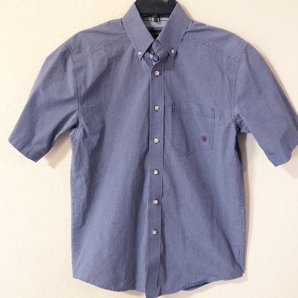 c300283d Ariat Shirts | Pro Series Rodeo Riding Shirt Blue Sz Small | Poshmark